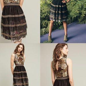 Anthropologie Dresses - Anthro Varun Bahl Embroidered Vigne Dress - SZ S